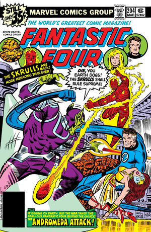 Fantastic Four (1961) #204, cover penciled by Al Milgrom & inked by Joe Sinnott.