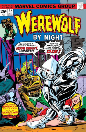 Werewolf by Night (1972) #32, cover penciled by Gil Kane & inked by Al Milgrom.
