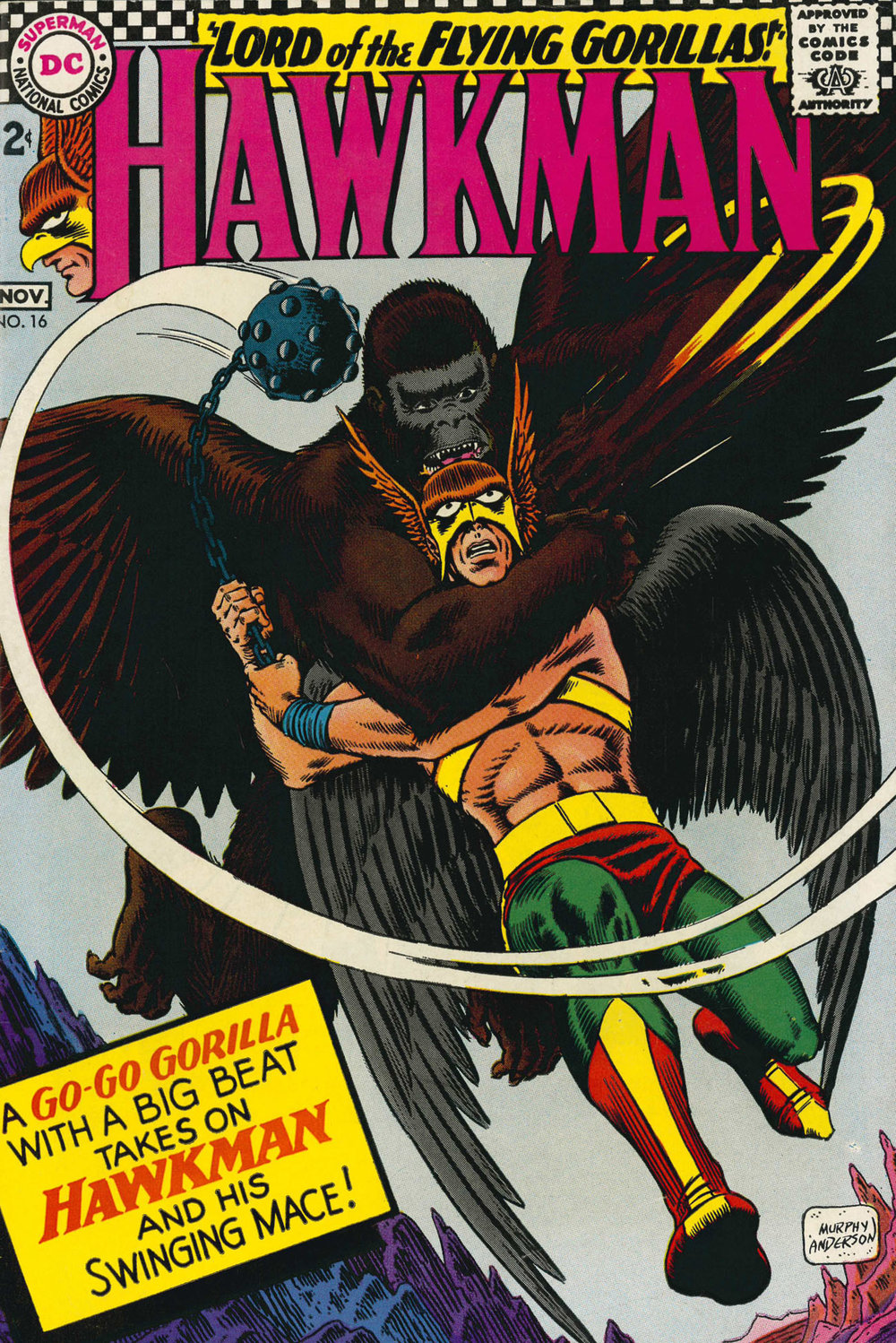 Hawkman (1964) #16, the issue that earned  Ms. Vartanoff 's ire.