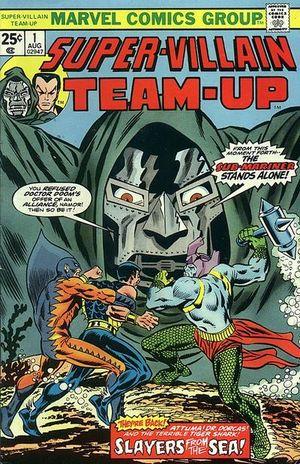 Super-Villain Team-Up (1975) #1, interior colored by Irene Vartanoff.
