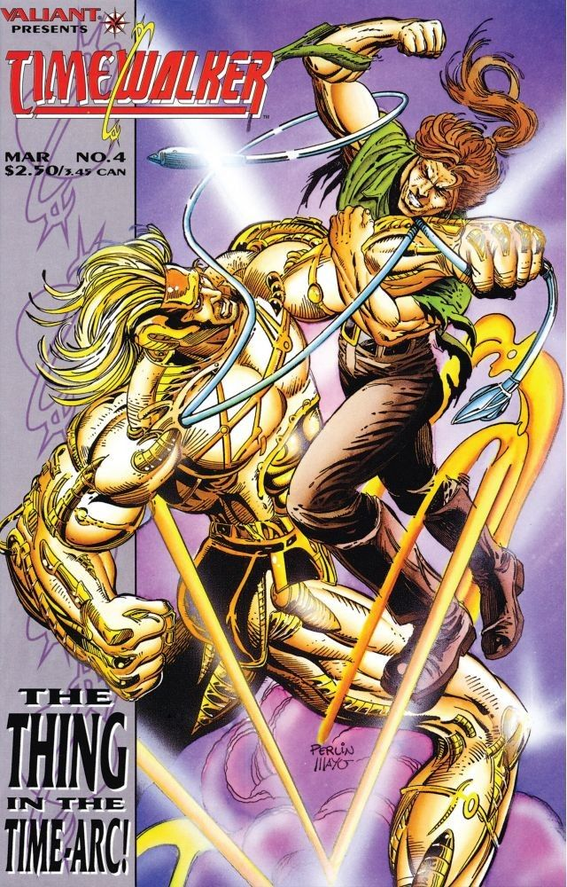 Timewalker (1994) #4, cover penciled by Don Perlin & inked by Gonzalo Mayo.
