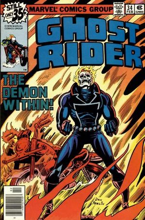 Ghost Rider (1973) #34, cover by Don Perlin.