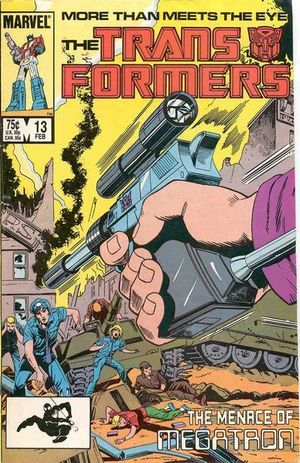 Transformers (1984) #13, cover by Don Perlin.