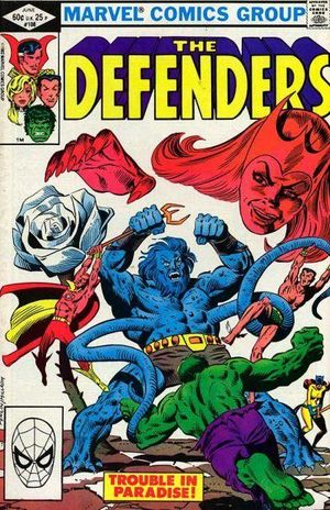 Defenders (1972) #108, cover penciled by Don Perlin & inked by Al Milgrom.