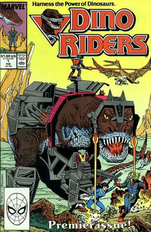 Dino Riders (1989) #1, cover penciled by Don Perlin & inked by Danny Bulanadi.