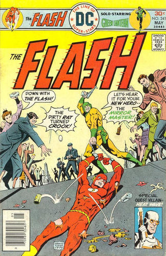 The Flash (1959) #241, cover by Ernie Chan, lettered by John Workman.