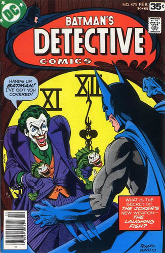 Detective Comics (1937) #475, cover by Marshall Rogers & Terry Austin, lettered by John Workman.