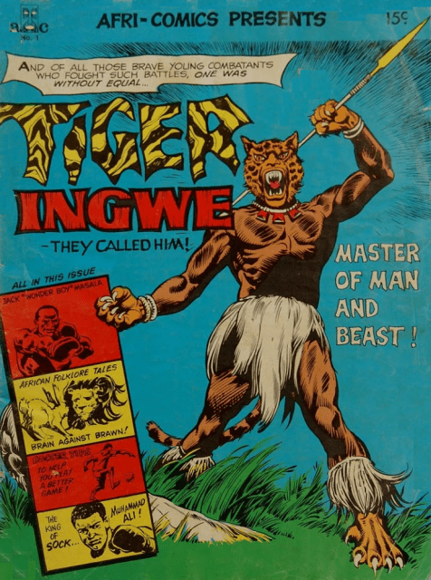 Tiger Ingwe (1975) #1, lettered by John Workman.