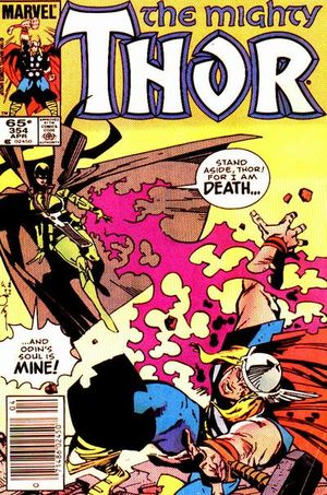 Thor (1966) #354, cover by Walt Simonson, lettered by John Workman.