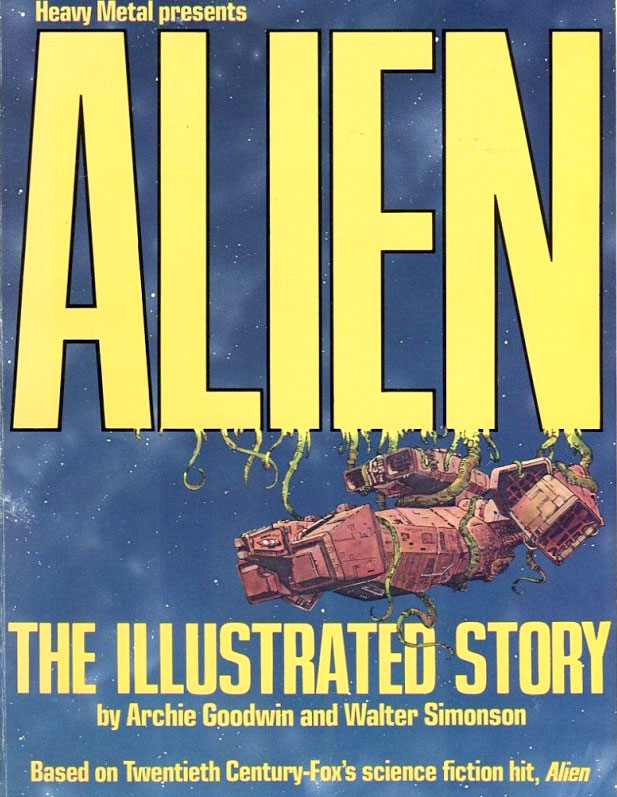 Alien: The Illustrated Story (1979) by Archie Goodwin & Walt Simonson, lettered by John Workman.