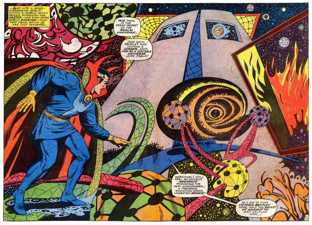 Doctor Strange (1968) #171 pg12-13, penciled by Tom Palmer & inked by Dan Adkins.