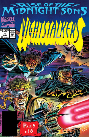 Nightstalkers (1992) #1, cover penciled by Ron Garney & inked by Tom Palmer.