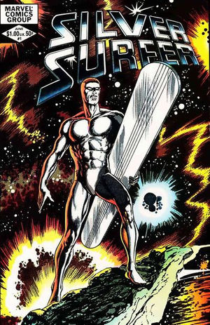 Silver Surfer (1982) #1, cover penciled by John Byrne & inked by Tom Palmer.