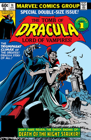 Tomb of Dracula (1972) #70, cover penciled by Gene Colan & inked by Tom Palmer.