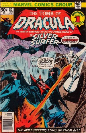 Tomb of Dracula (1972) #50, cover penciled by Gene Colan & inked by Tom Palmer.