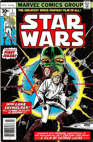 Star Wars (1977) #1, cover penciled by Howard Chaykin & inked by Tom Palmer.