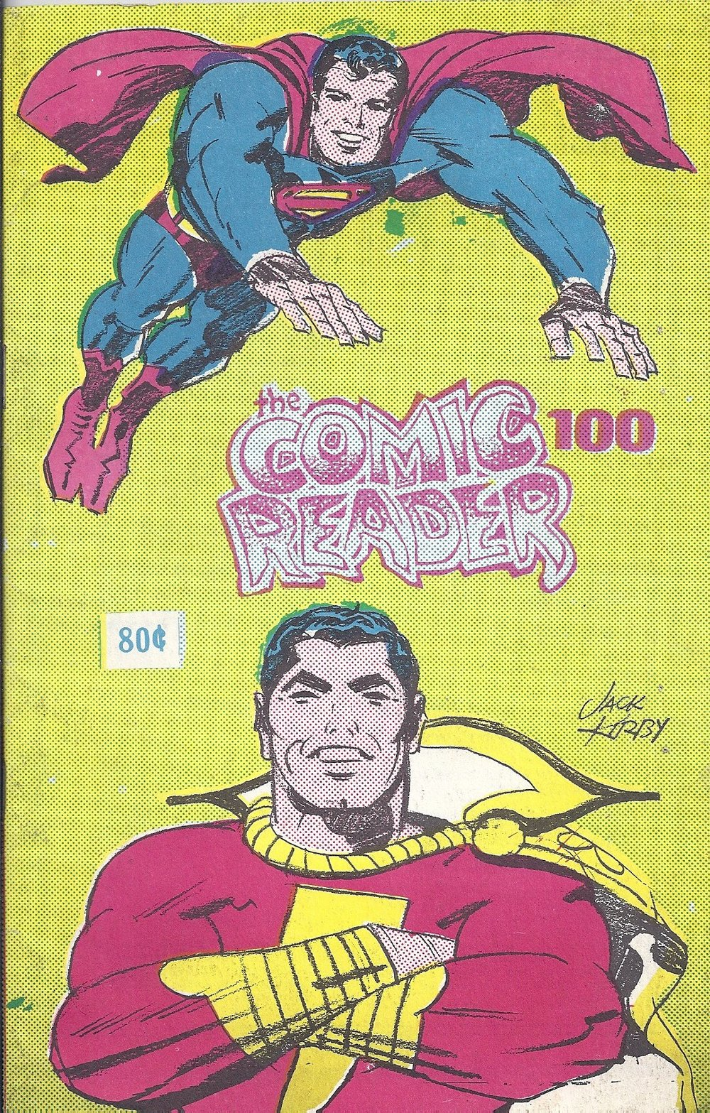 The Comic Reader (1962) #100. This September 1973 issue featured a cover by Jack Kirby.