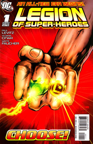 Legion of Super-Heroes (2010) #1, written by Paul Levitz.