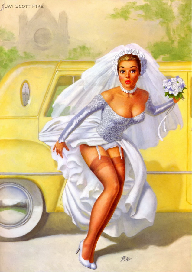 The Bride Almost Wore White, a painting by Jay Scott Pike.