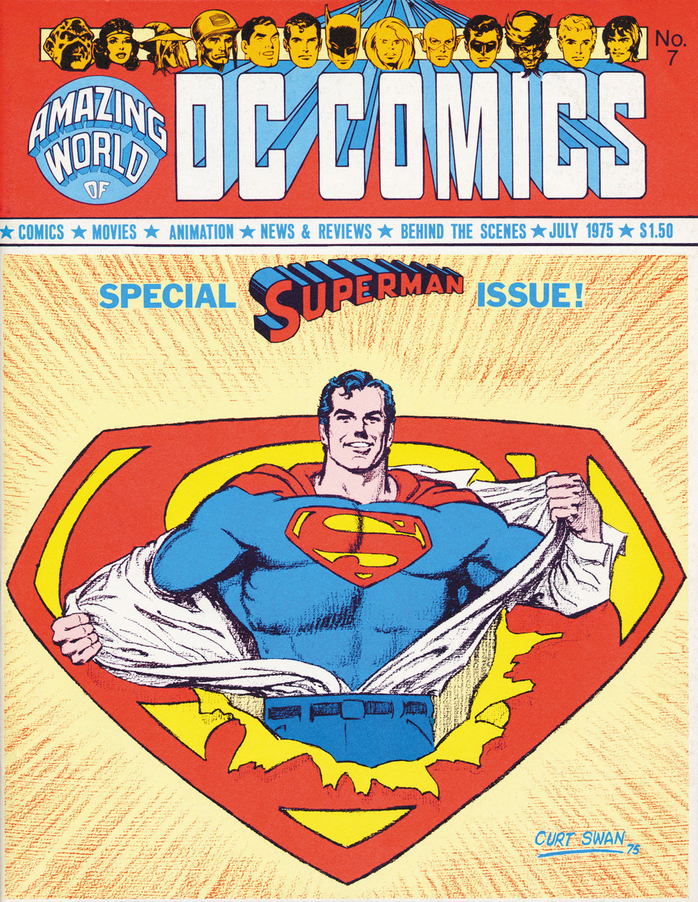 Amazing World of DC Comics (1974) #7, cover by Curt Swan.
