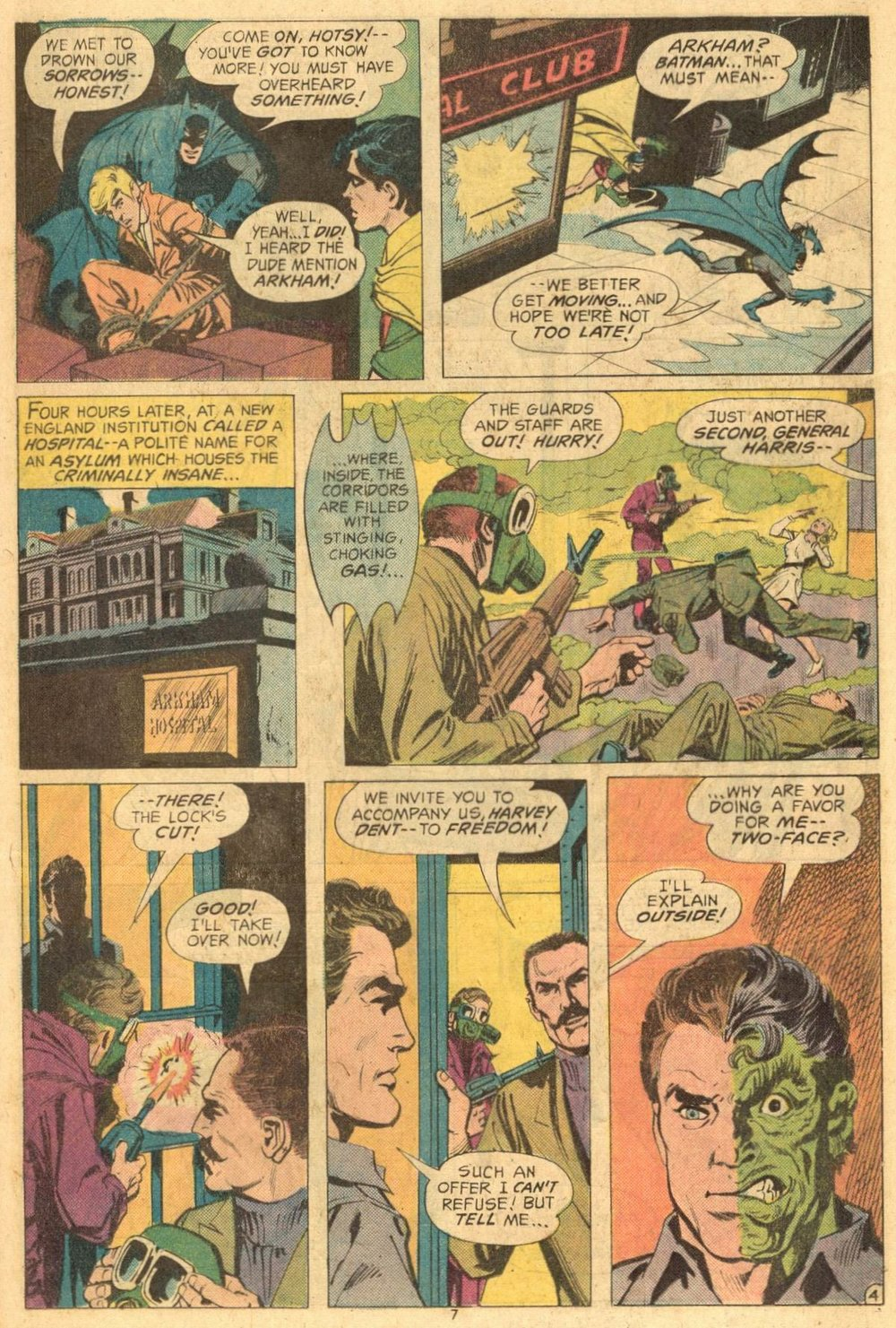 Batman (1940) #258 pg.4, featuring General John Harris.
