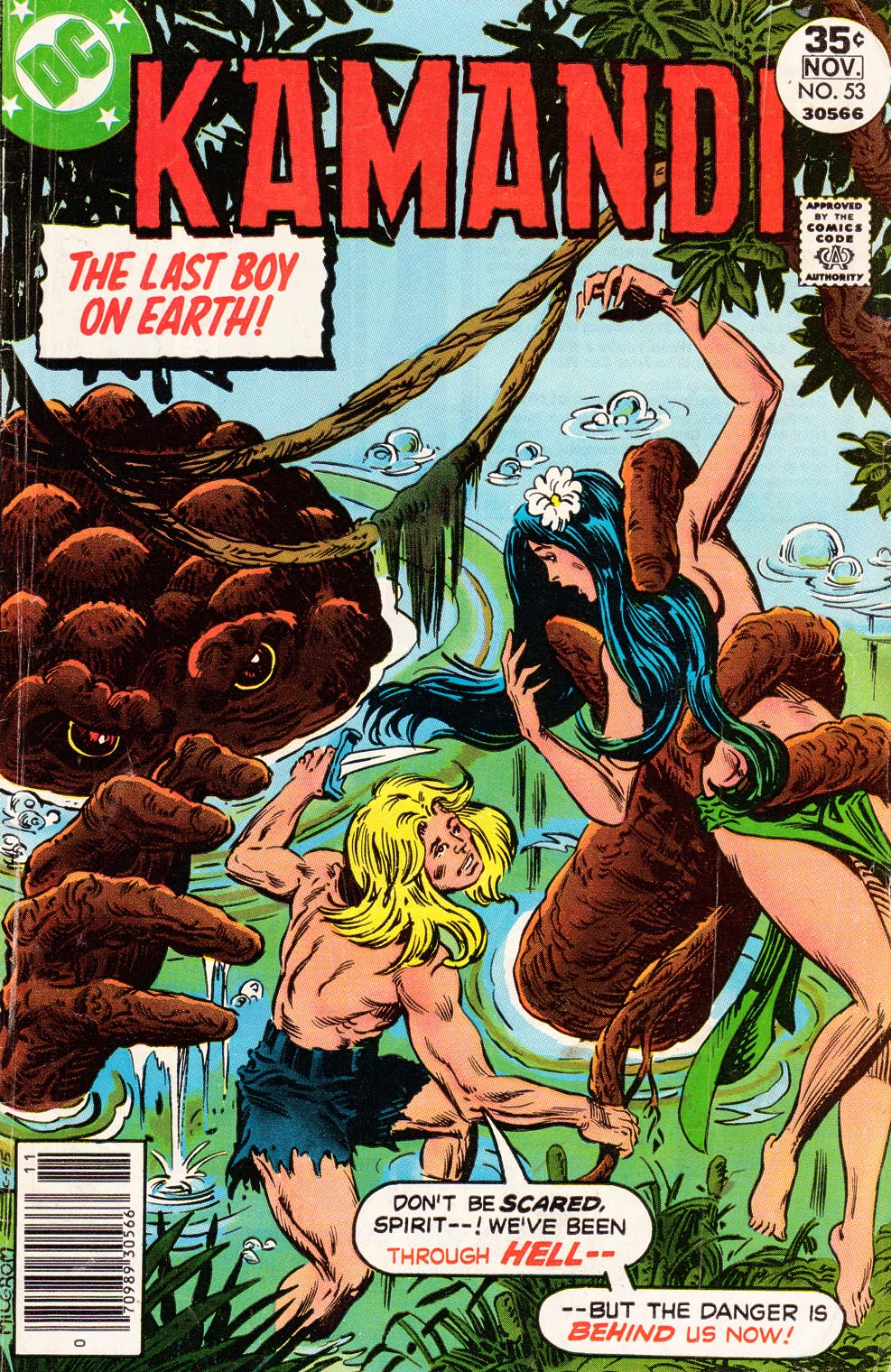 Kamandi (1975) #53, written by Jack C Harris.