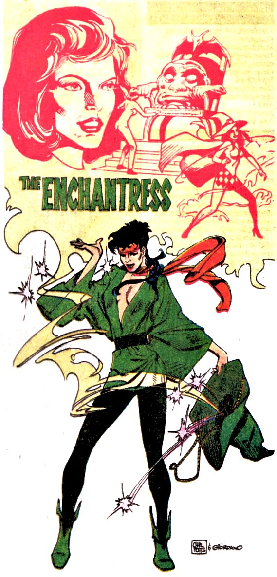 Who's Who of the DC Universe (1985) #7, interior Enchantress by Carl Potts & Dick Giordano.