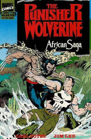 Punisher and Wolverine: African Saga (1990) #1, cover by Carl Potts & Jim Lee.