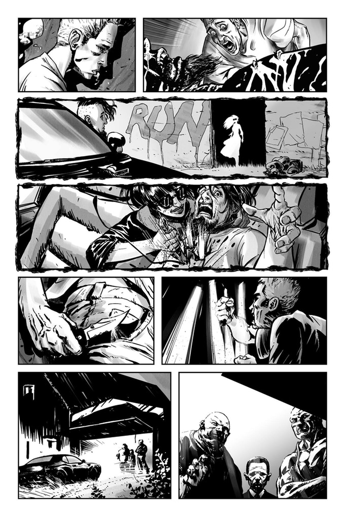 Car trouble. A page from   Caught On the Web   by Ryan Lynch & Fabio Ramacci.