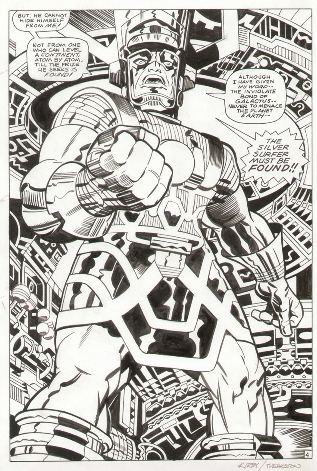 Galactus, penciled by Jack Kirby & inked by Greg Theakston.