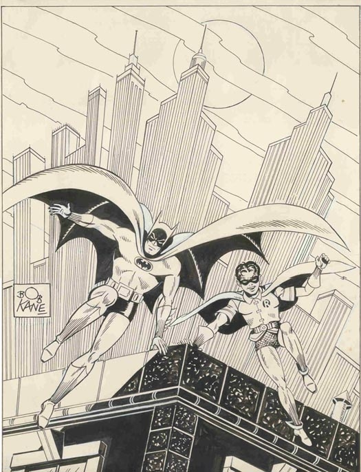 Batman & Robin, penciled by Bob Kane & inked by Greg Theakston.