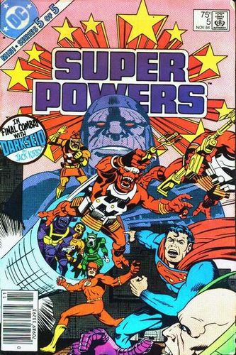 Super Powers (1984) #5, cover penciled by Jack Kirby & inked by Greg Theakston.