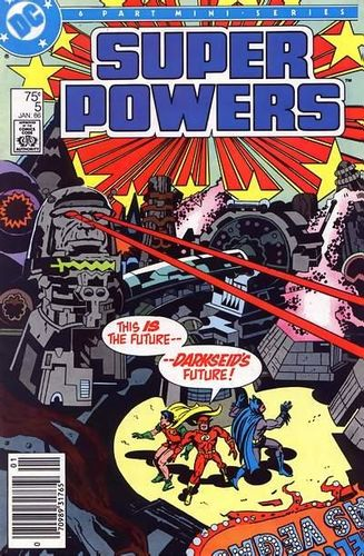Super Powers (1985) #5, cover penciled by Jack Kirby & inked by Greg Theakston.