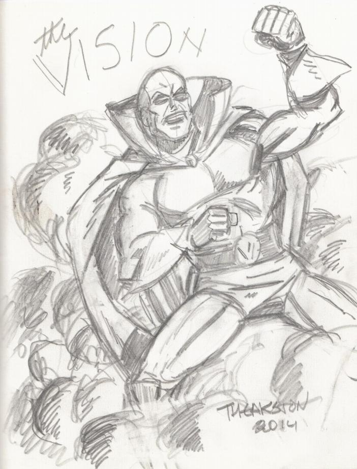 The Vision, drawn by Greg Theakston in 2014.