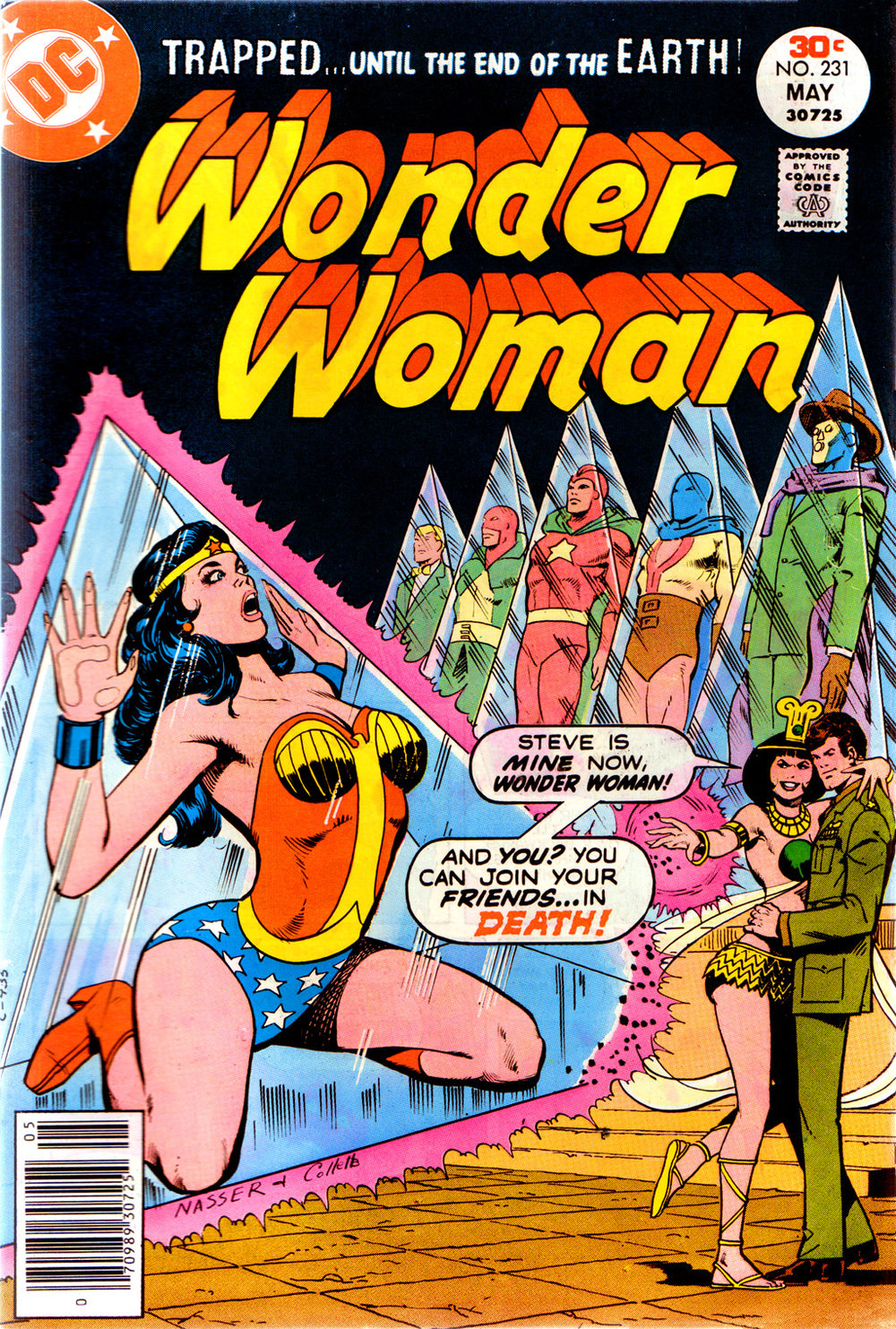 Wonder Woman (1942) #231, cover penciled by Mike Nasser & inked by Vince Colletta.