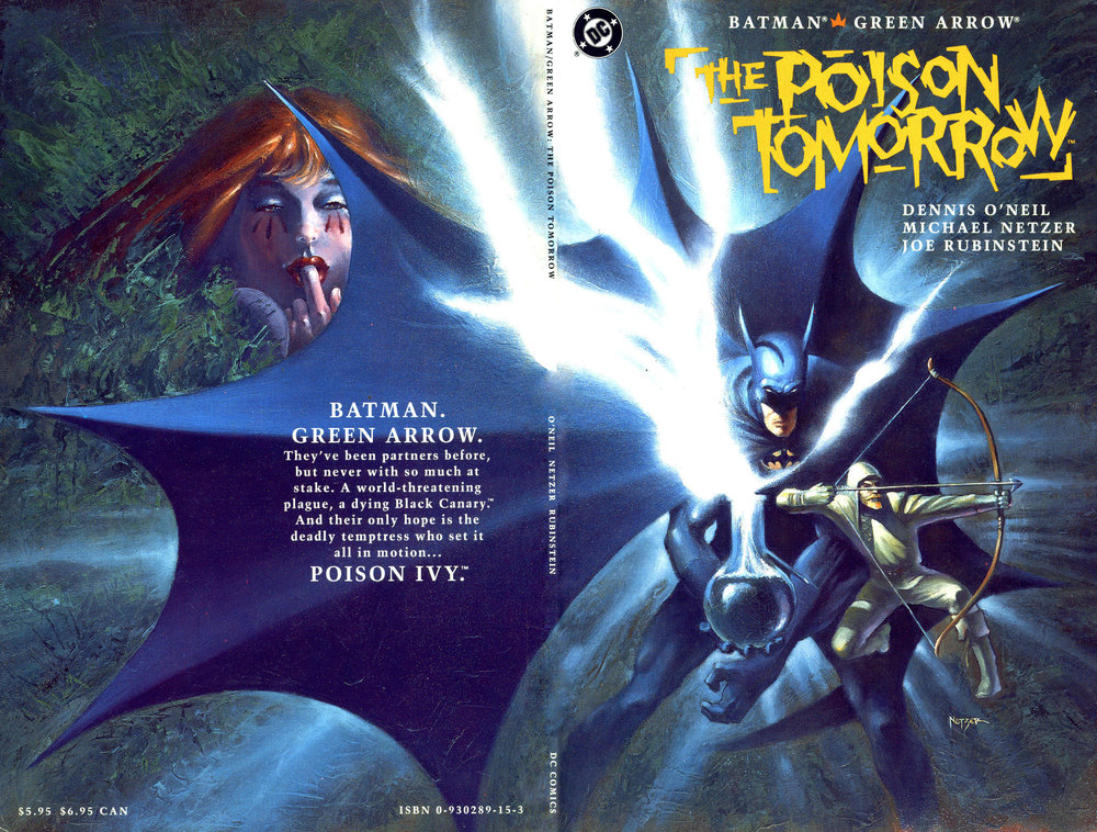 Batman / Green Arrow: Poison Tomorrow (1992) 1, cover painted by Mike Netzer.