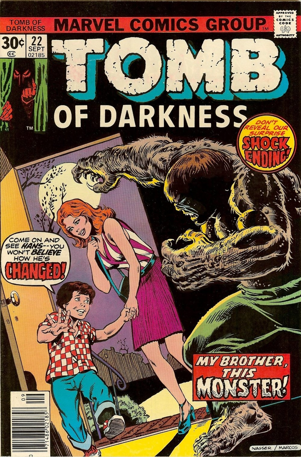 Tomb of Darkness (1974) #22, cover penciled by Mike Nasser & inked by Pablo Marcos.