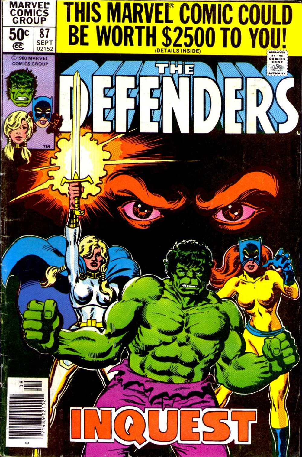 The Defenders (1972) #87, cover penciled by Mike Nasser & inked by Al Milgrom.