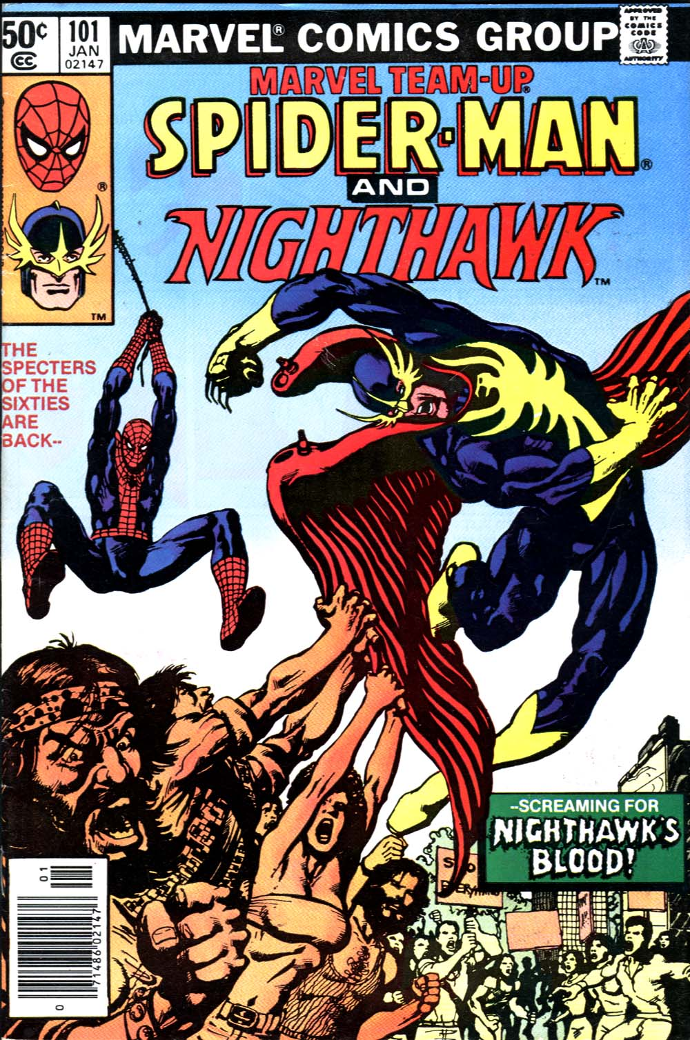 Marvel Team-Up (1972) #101, cover by Mike Nasser.