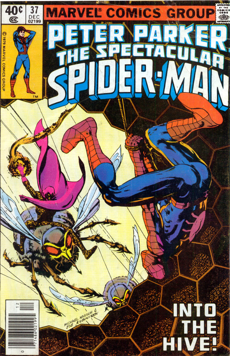Peter Parker, the Spectacular Spider-Man (1976) #37, cover penciled by Mike Nasser & inked by Joe Rubinstein.