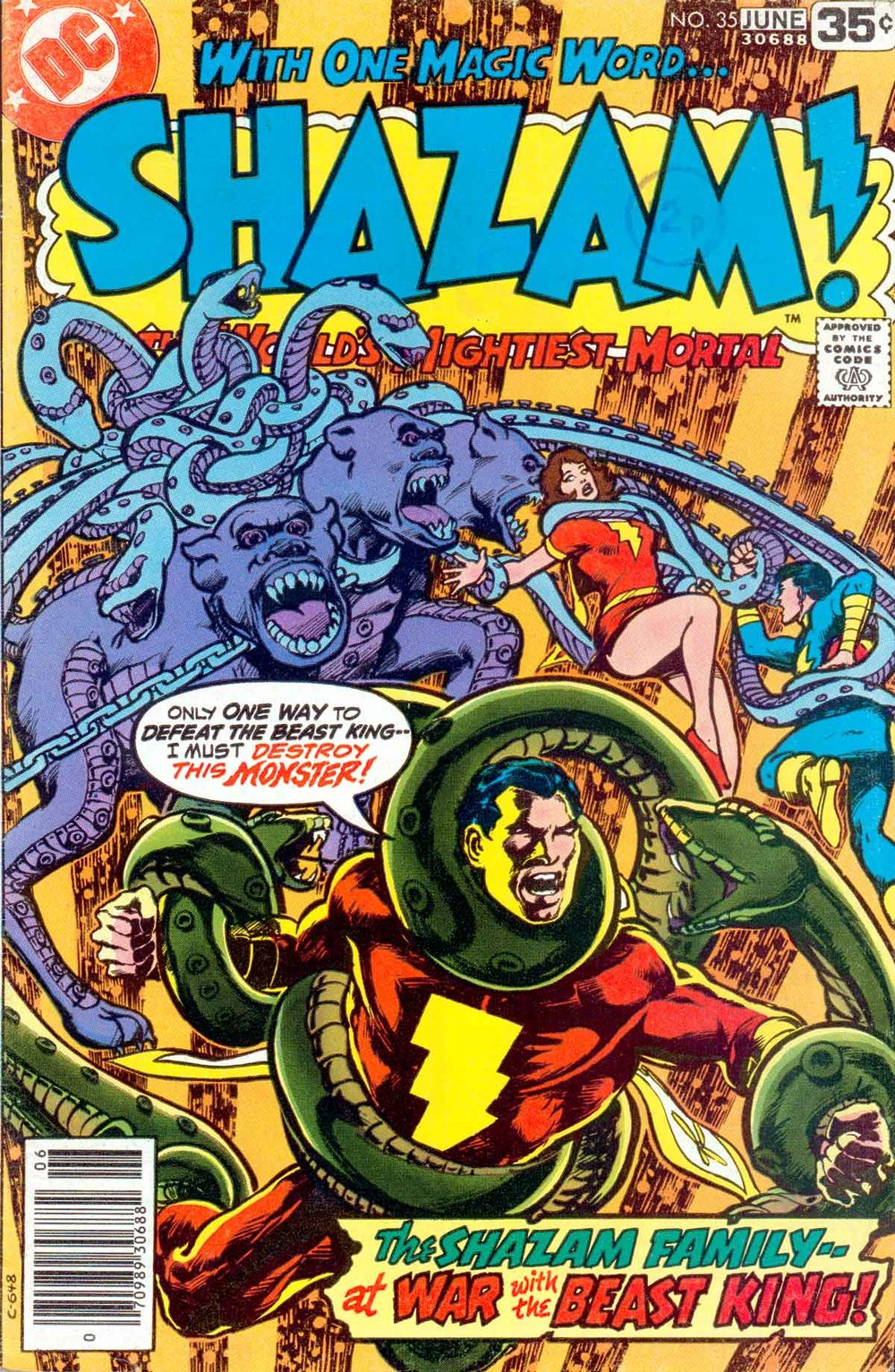 Shazam (1973) #35, cover by Mike Nasser.