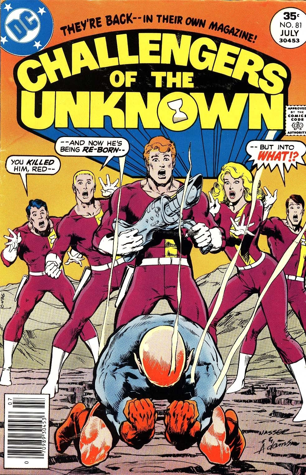 Challengers of the Unknown (1958) #81, cover penciled by Mike Nasser & inked by Neal Adams.
