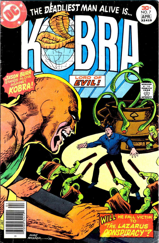 Kobra (1976) #7, cover by Mike Nasser.