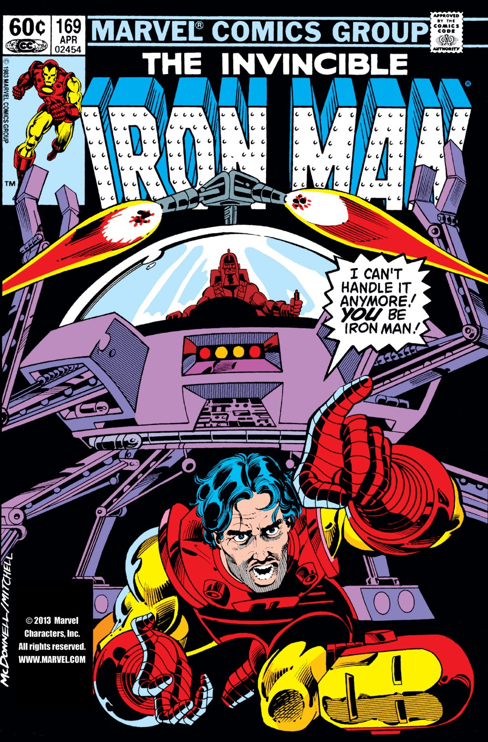 Iron Man (1968) #169, cover penciled by Luke McDonnell & inked by Steve Mitchell.