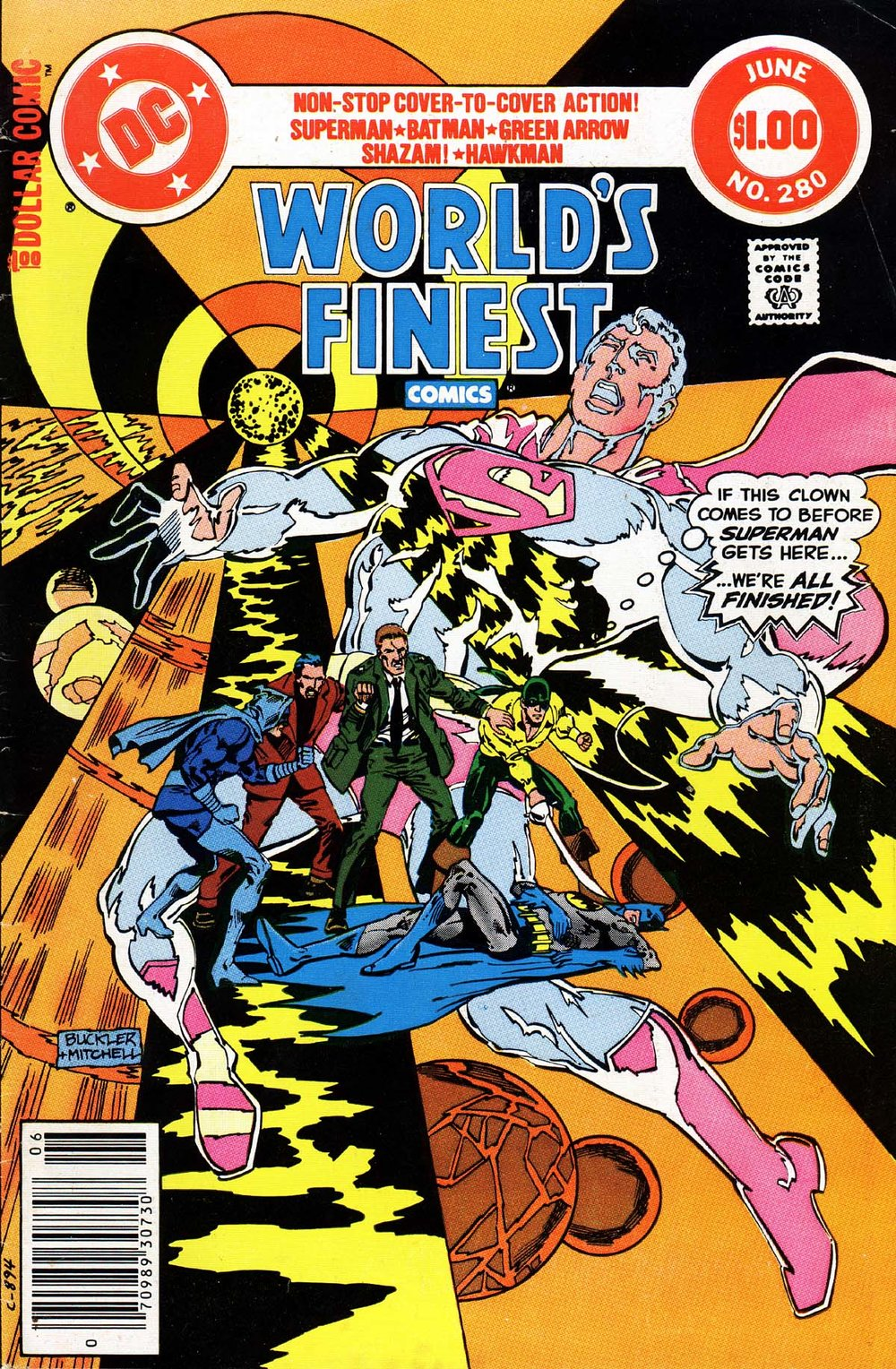 World's Finest Comics (1941) #280, cover penciled by Rich Buckler & inked by Steve Mitchell.