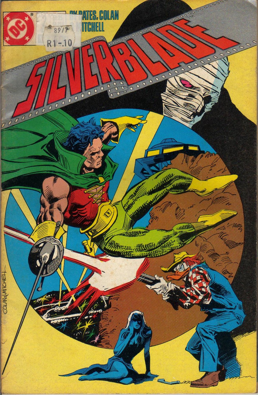 Silverblade (1987) #2, cover penciled by Gene Colan & inked by Steve Mitchell.