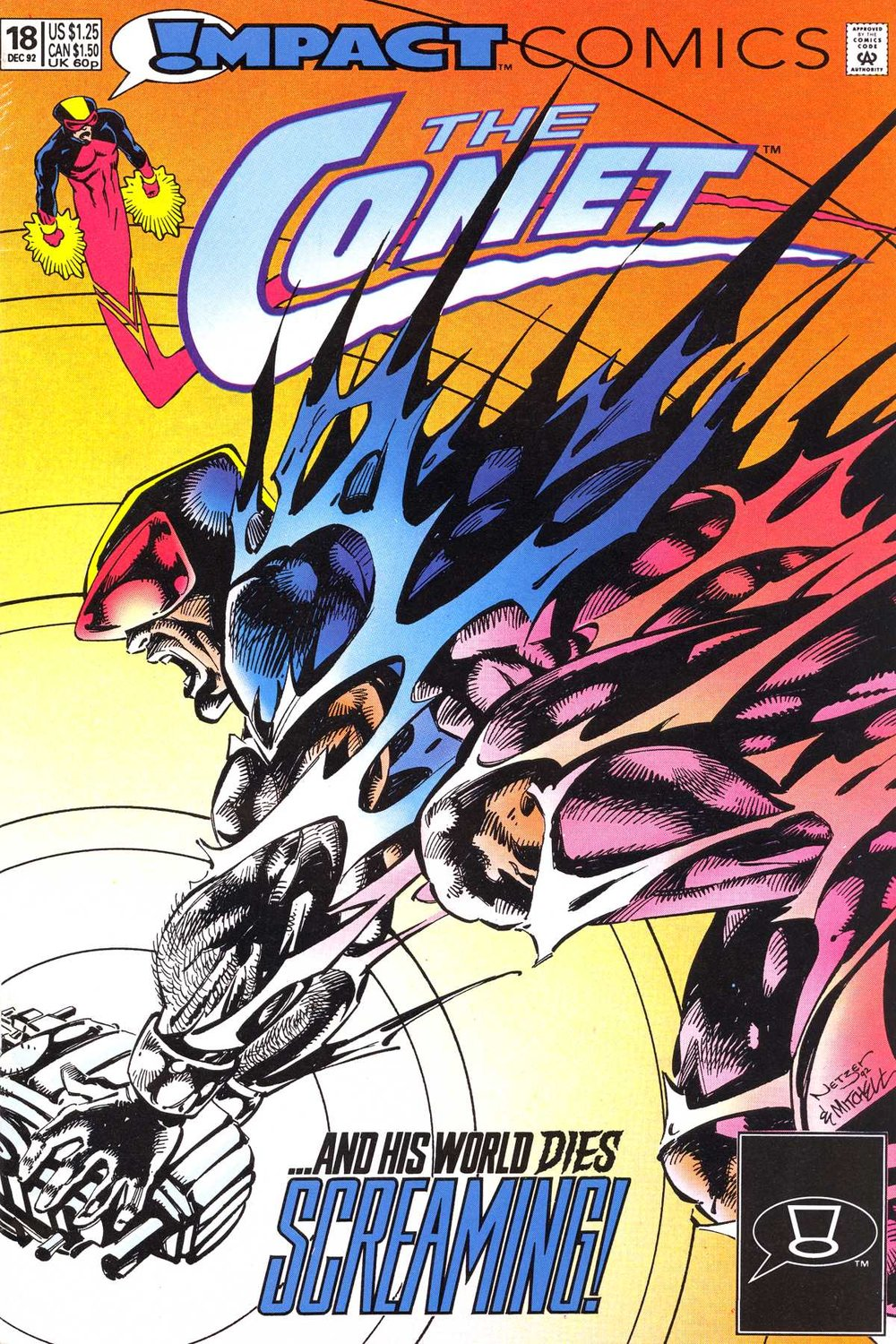 The Comet (1991) #18, cover penciled by Mike Netzer & inked by Steve Mitchell.