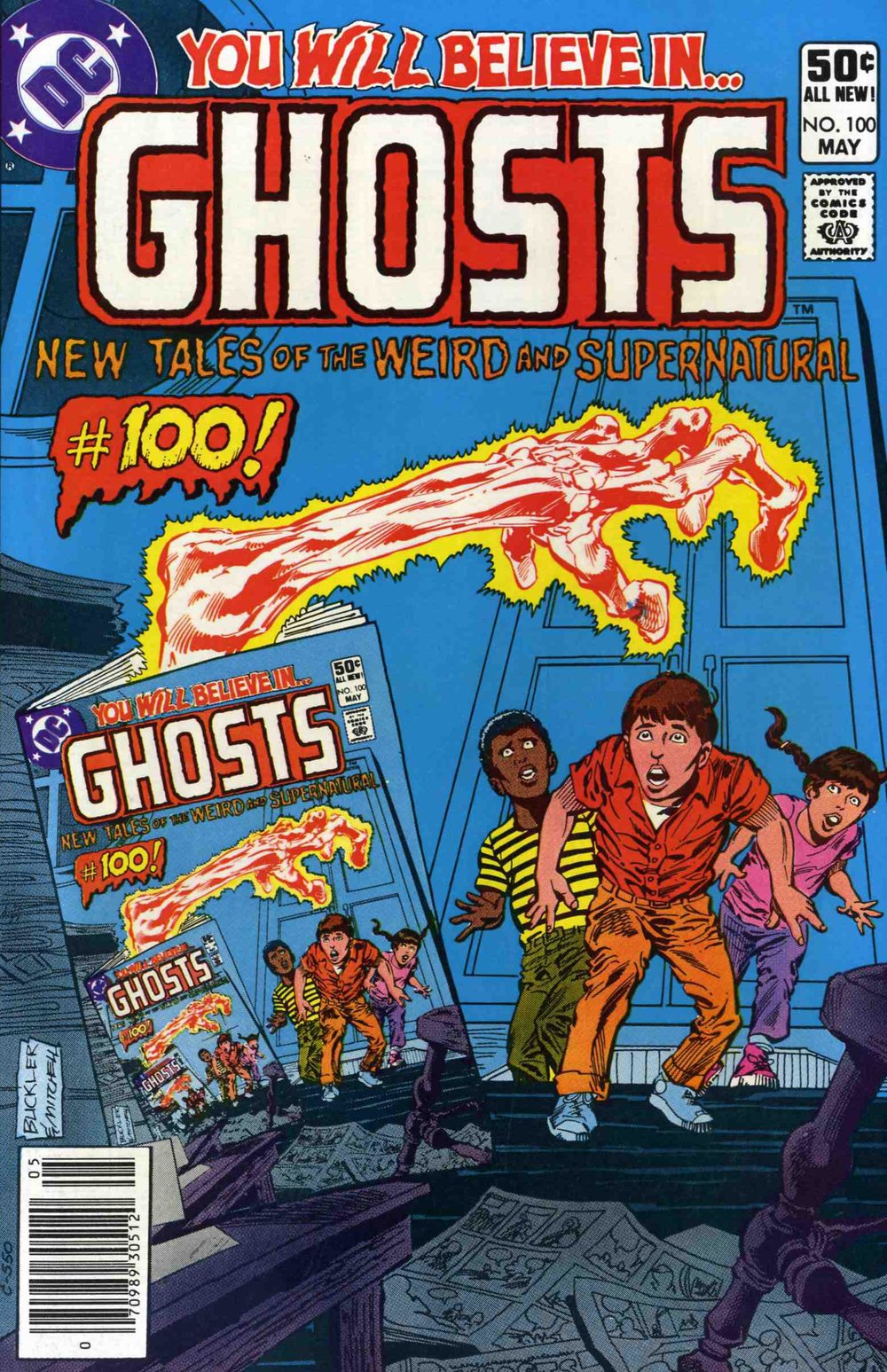 Ghosts (1971) #100, cover penciled by Rich Buckler & inked by Steve Mitchell.