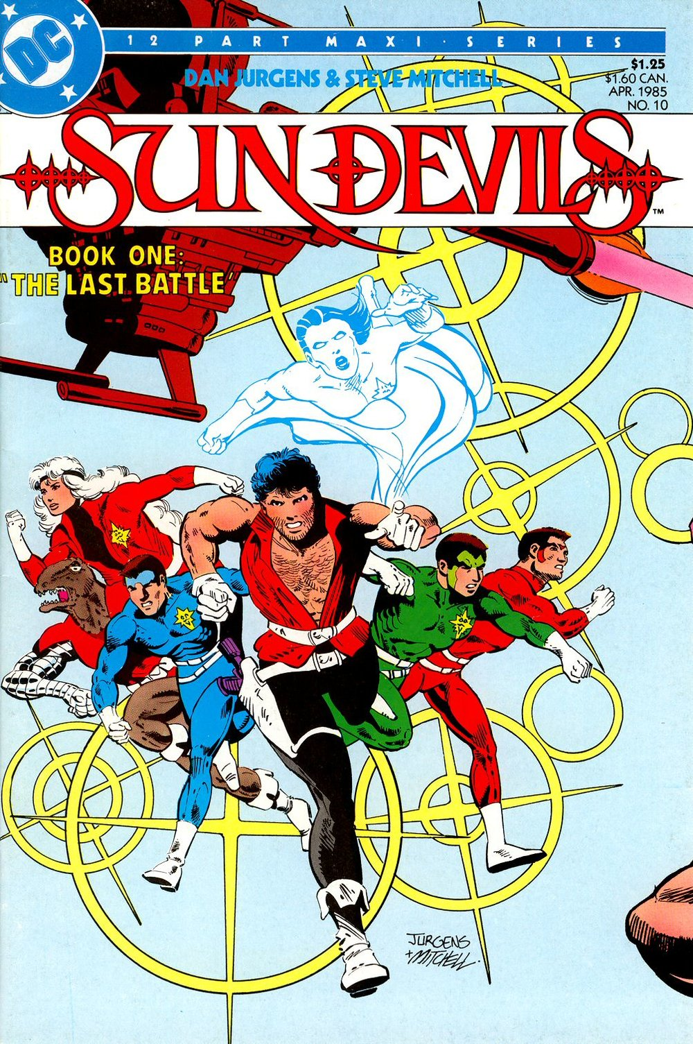 Sun Devils (1984) #10, cover penciled by Dan Jurgens & inked by Steve Mitchell.