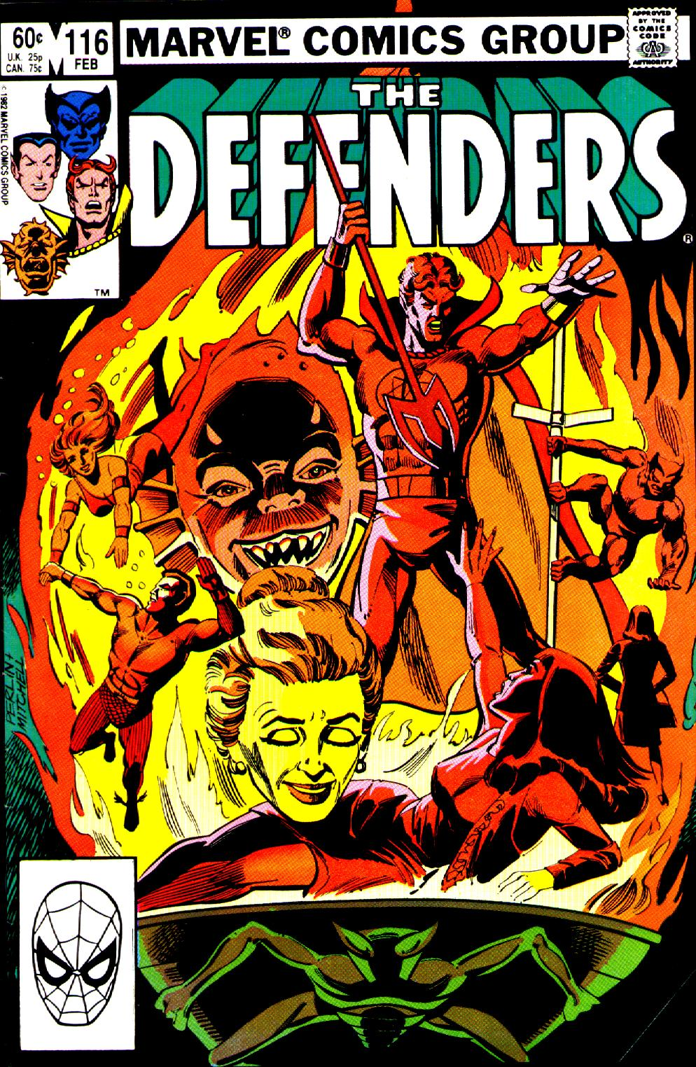 Defenders (1972) #116, cover penciled by Don Perlin & inked by Steve Mitchell.